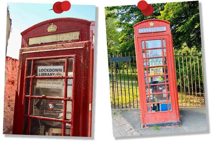 Lockdown, Telephone Box, Cardiff, Library