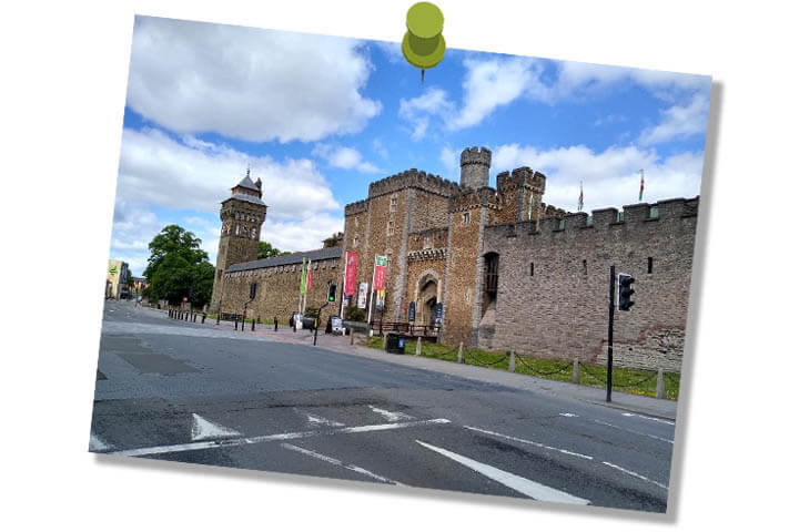 Cardiff Castle, empty street, COVID-19, Photography