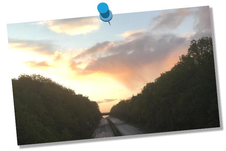 sunset, Cardiff